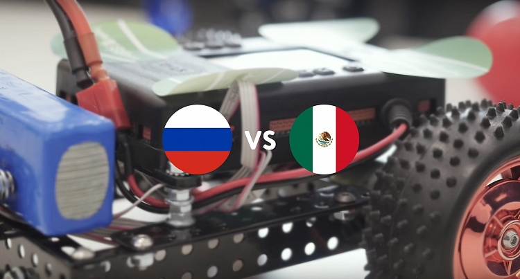 Russia – Mexico: historical football match of robots controlled by fans via Twitter