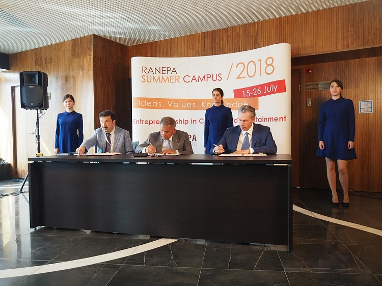 Gazprombank, Innopolis University and RANEPA will create joint educational projects in the field of digital technologies
